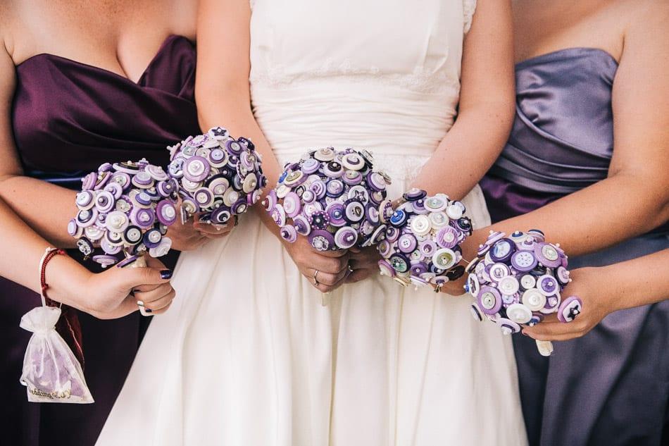 DIY Purple Button Bouquets