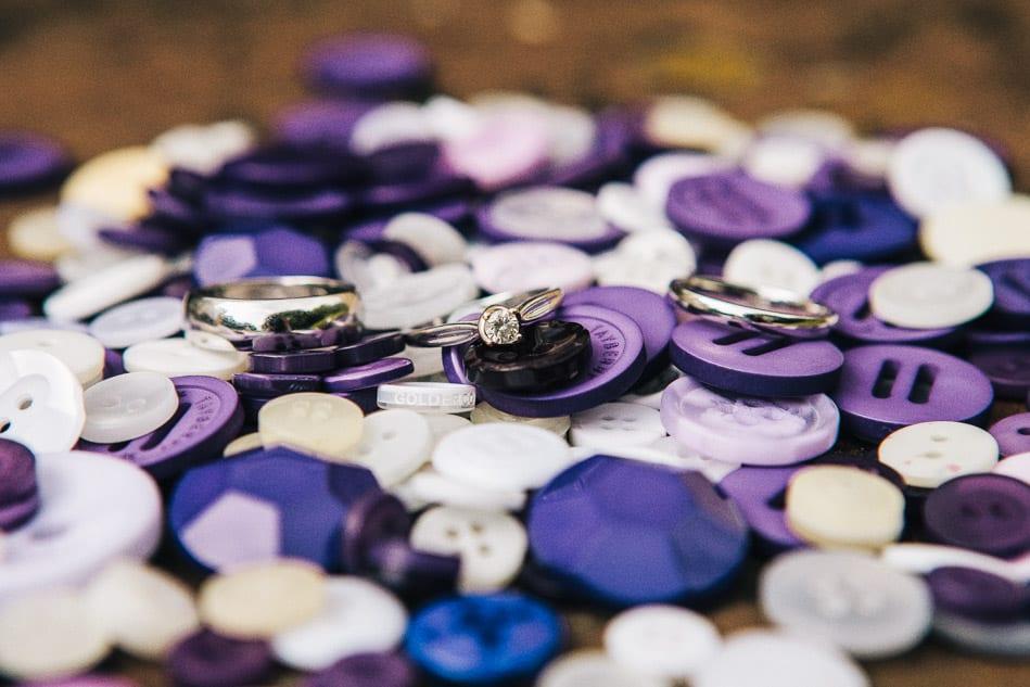 Creative Shot of Wedding Rings