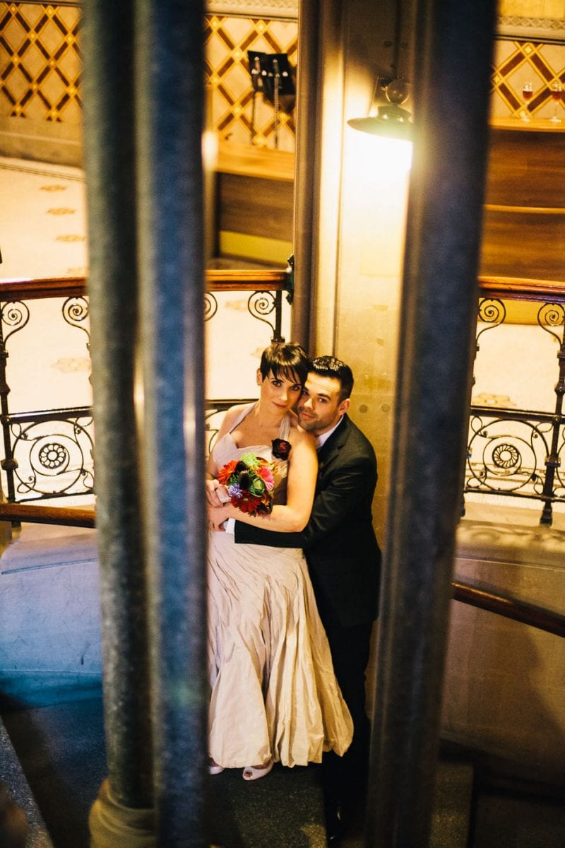 Creative Wedding Portraits at Manchester Town Hall