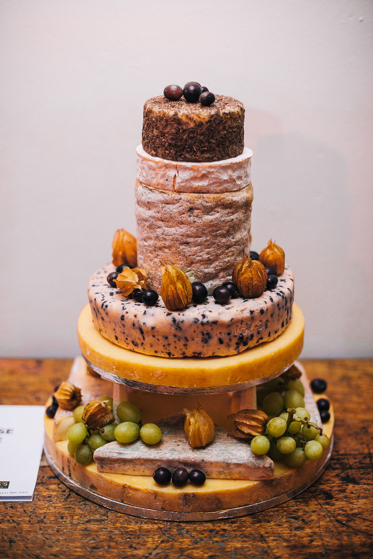 cheese wedding cakes cheshire wedding photography manchester northern quarter 12606
