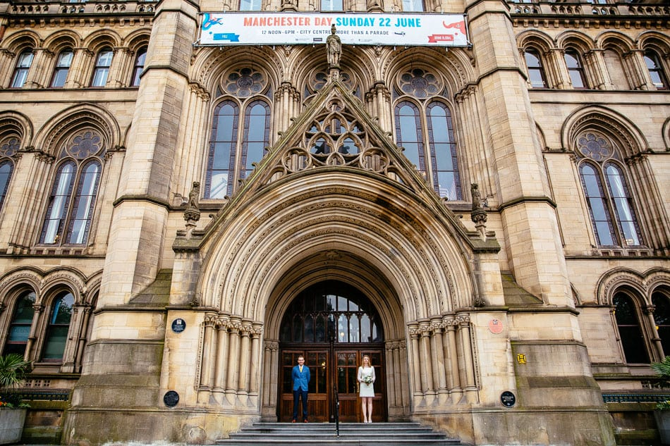 Quirky Wedding Photography Manchester Town Hall