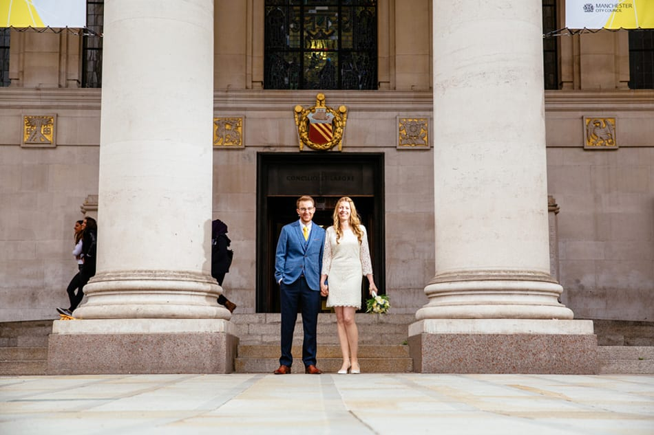 Quirky Wedding Photograph at Manchester Library