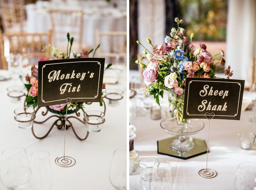 Wedding Tables at Iscoyd Park