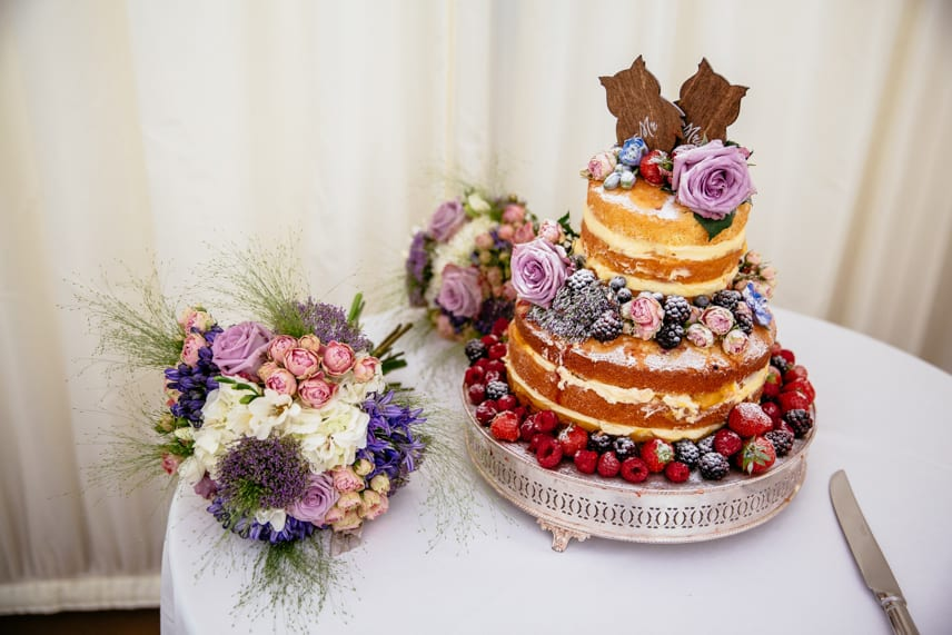 Wedding Cake at Iscoyd Park