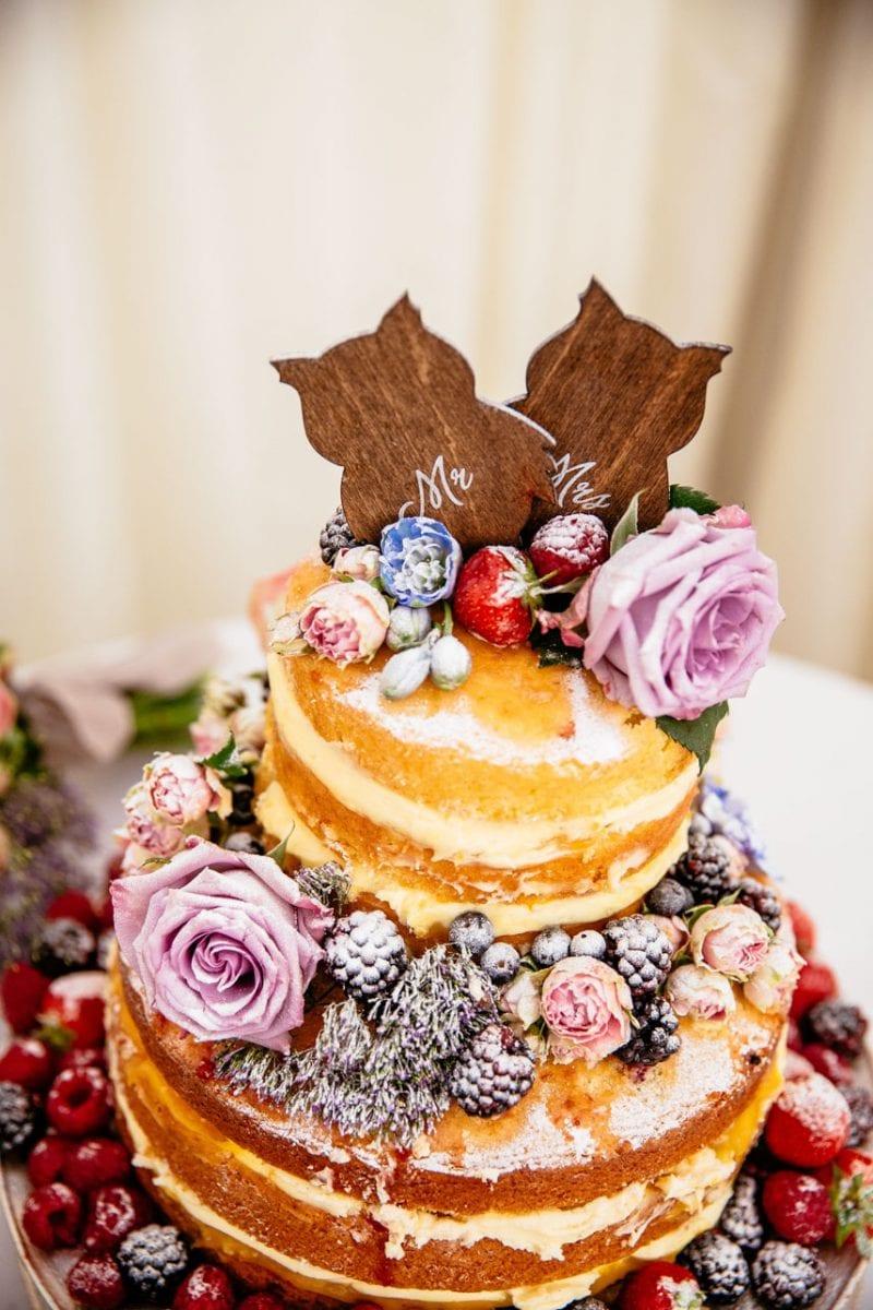 Naked Wedding Cake at Iscoyd Park