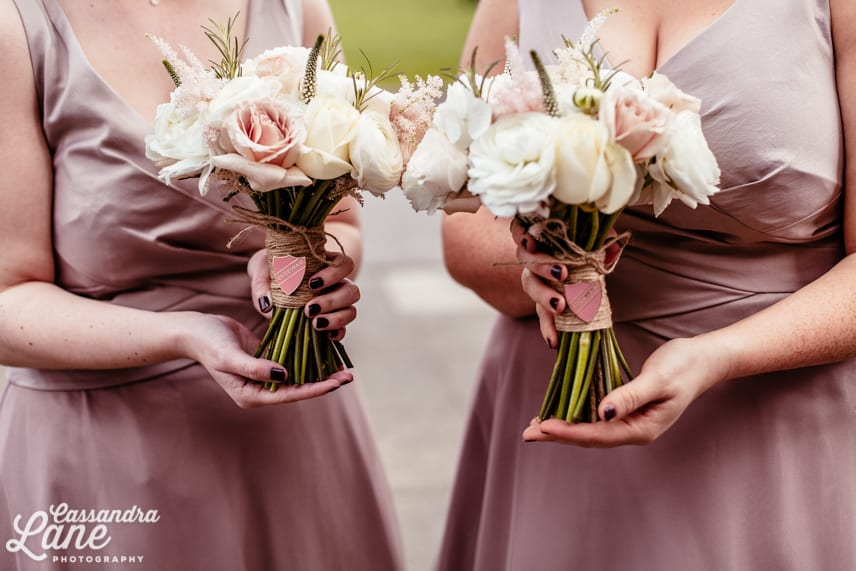 Bridesmaids Bouquets with Badges