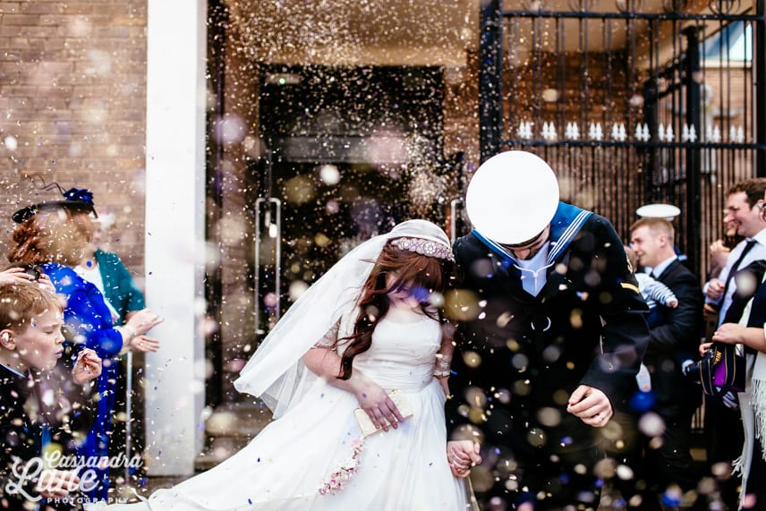 Confetti Throwing Photo