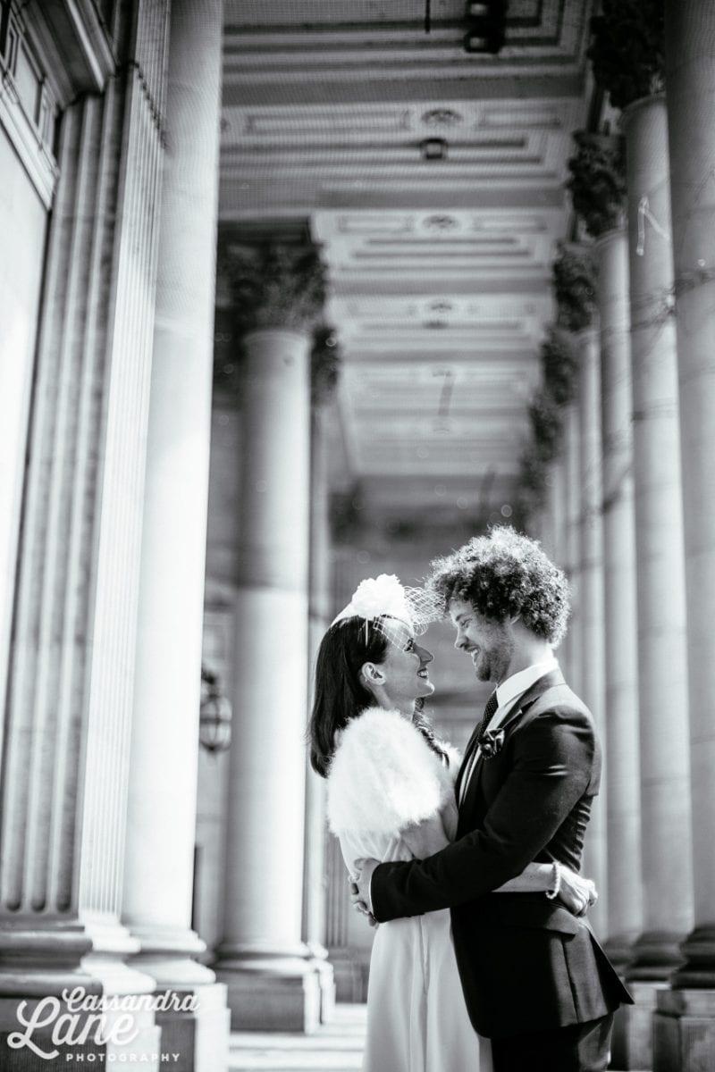 Alternative Wedding Photography Leeds Town Hall