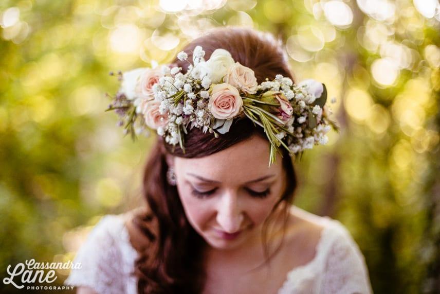 Bridal Fresh Flower Crown