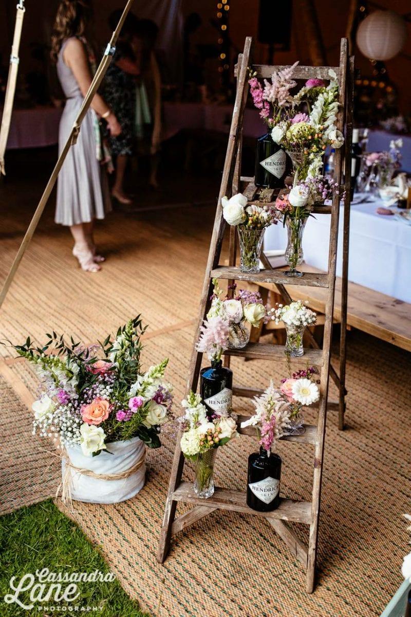 Vintage Ladder at Wedding