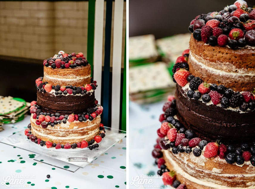 Naked Wedding cake at Victoria Baths, Manchester