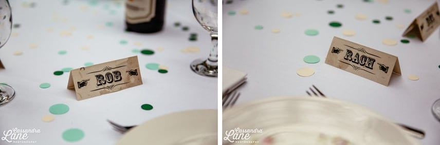 Vintage Table Name Settings