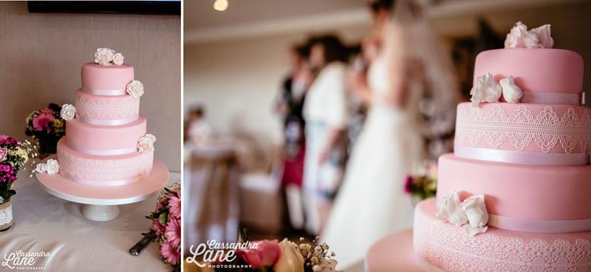 Pastel Pink Wedding Cake