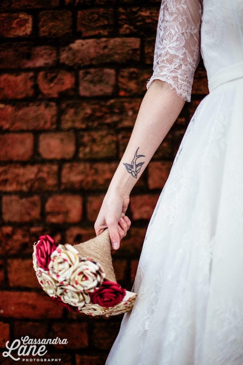 Tattoo with bridal bouquet