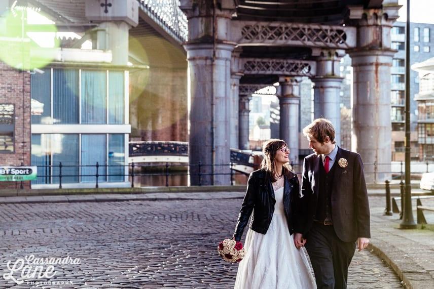 Wedding Photos in Castlefield Manchester