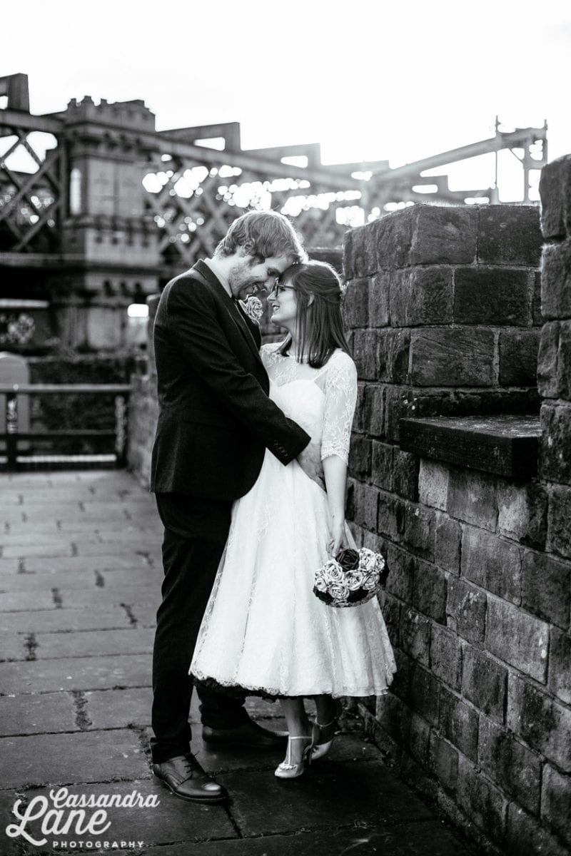 Wedding Photo in Castlefield Manchester