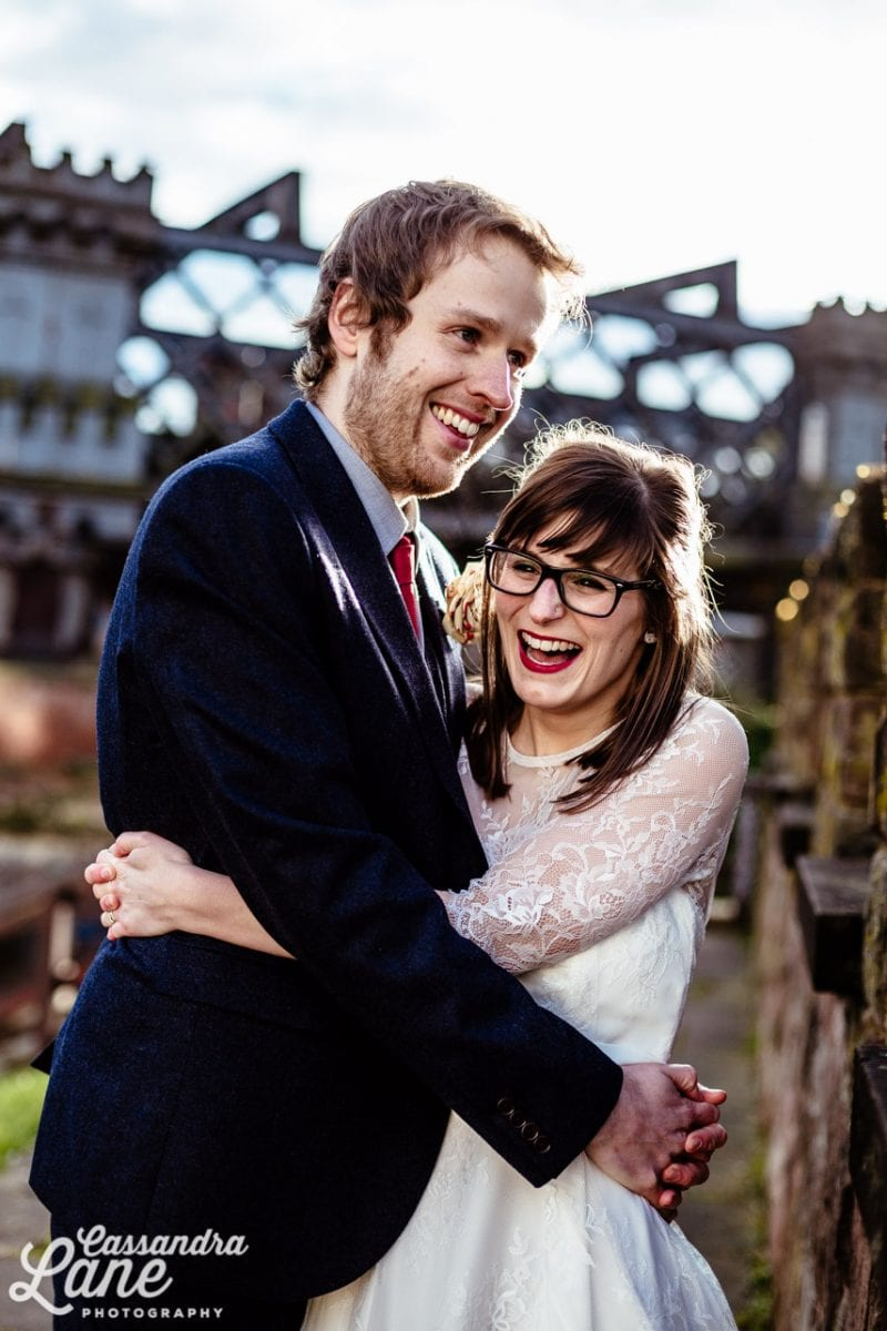 Cool Wedding Photos in Castlefield Manchester