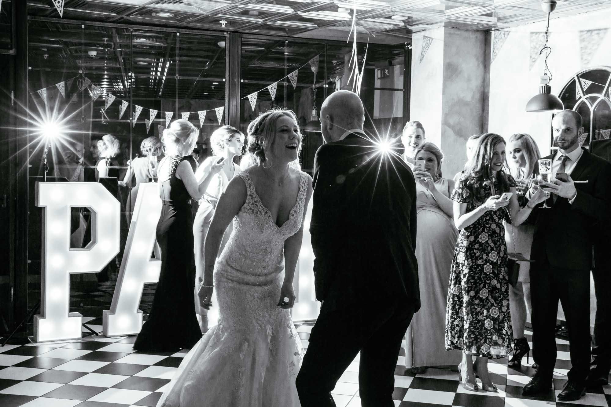 Wedding Reception Dancing On the 7th Media City Salford Quays