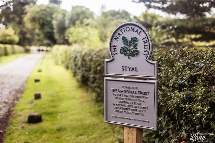 Styal National Trust Sign