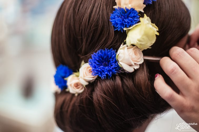 Floral Bridal Crown Brunette