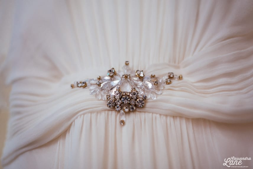 Detail on Jenny Packham Wedding Dress