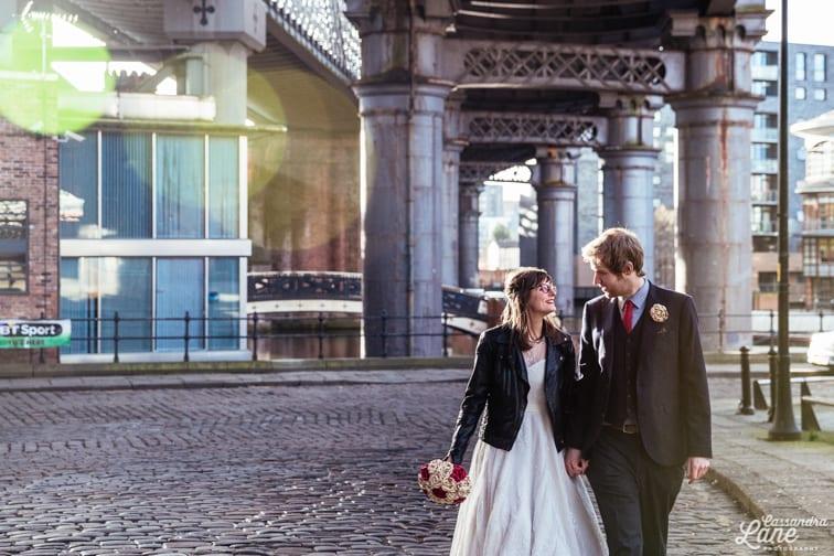 Alternative Wedding Photographer Great John St Hotel Manchester