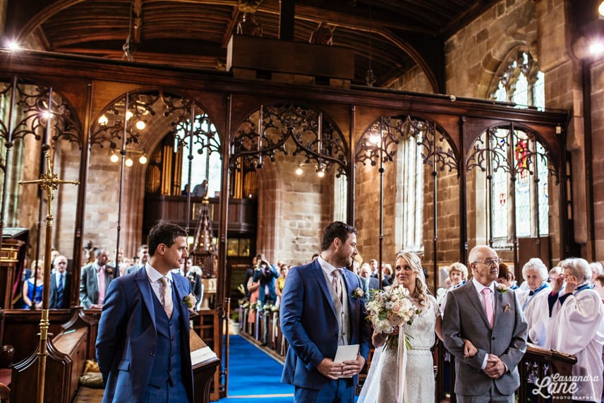 Wedding St James the Great Gawsworth Cheshire