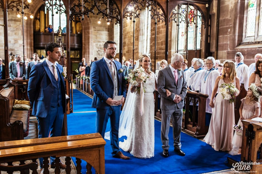 Wedding at St James the Great Gawsworth Cheshire