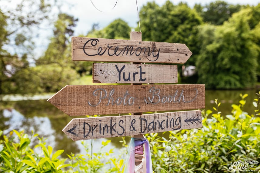 Wedding Sign at St James the Great Gawsworth