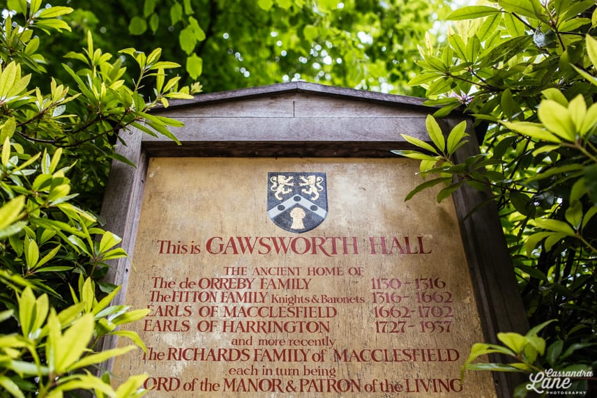 Gawsworth Hall Sign