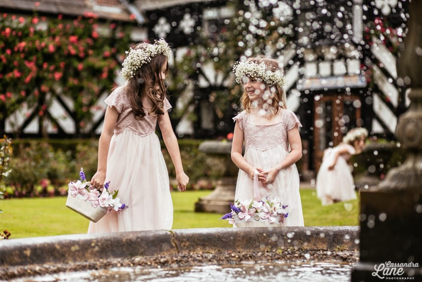 Flower Girls at Gawsworth Hall