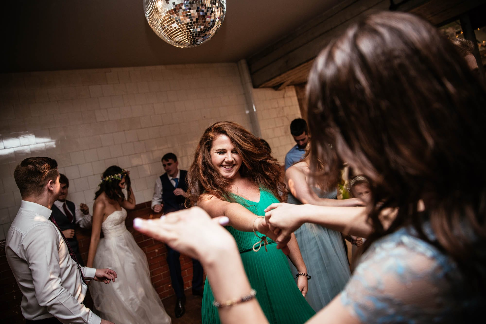 Dancing at Plas Dinam Country House Mid Wales Wedding Reception