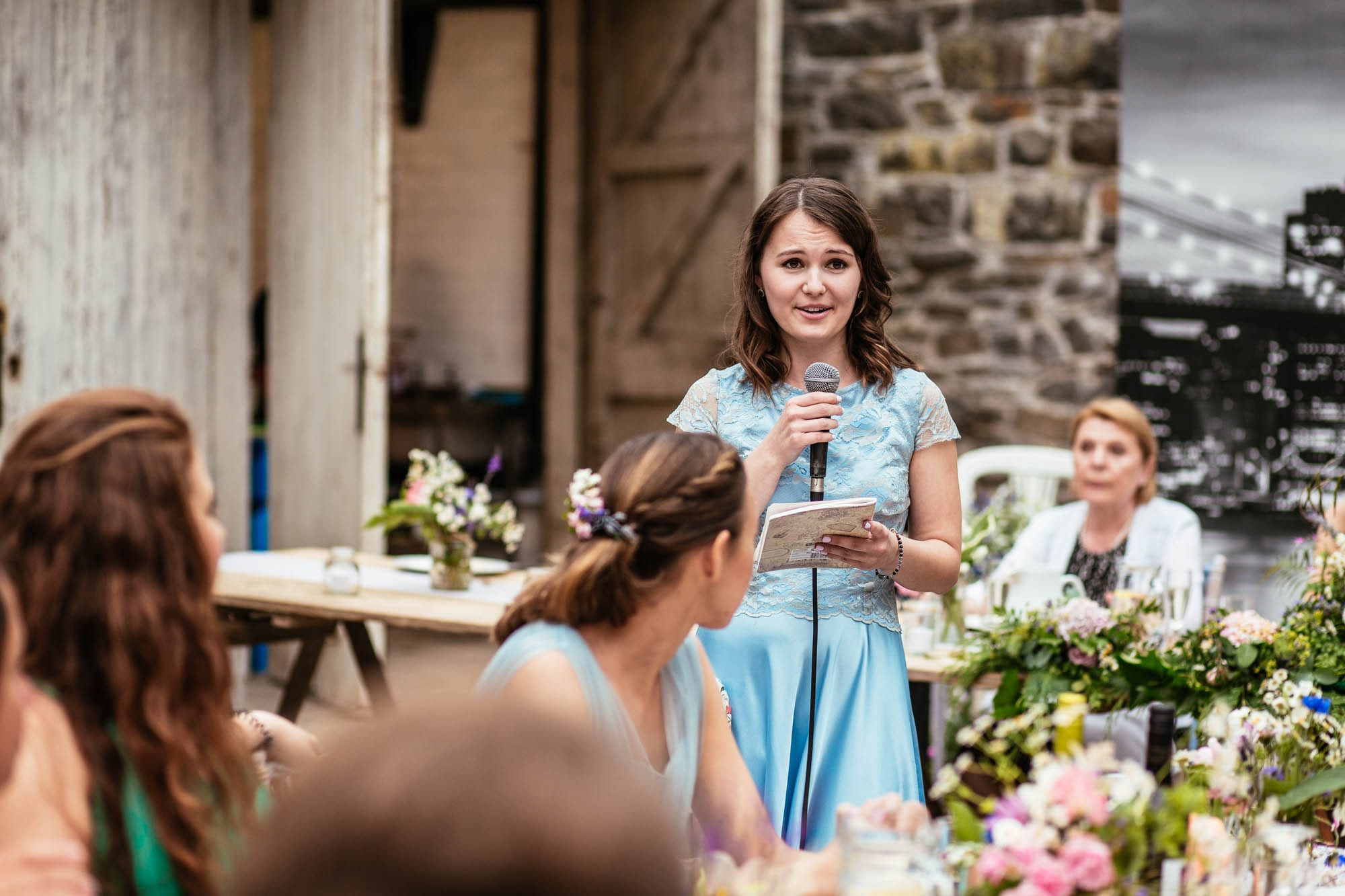 Plas Dinam Mid Wales Wedding Reception