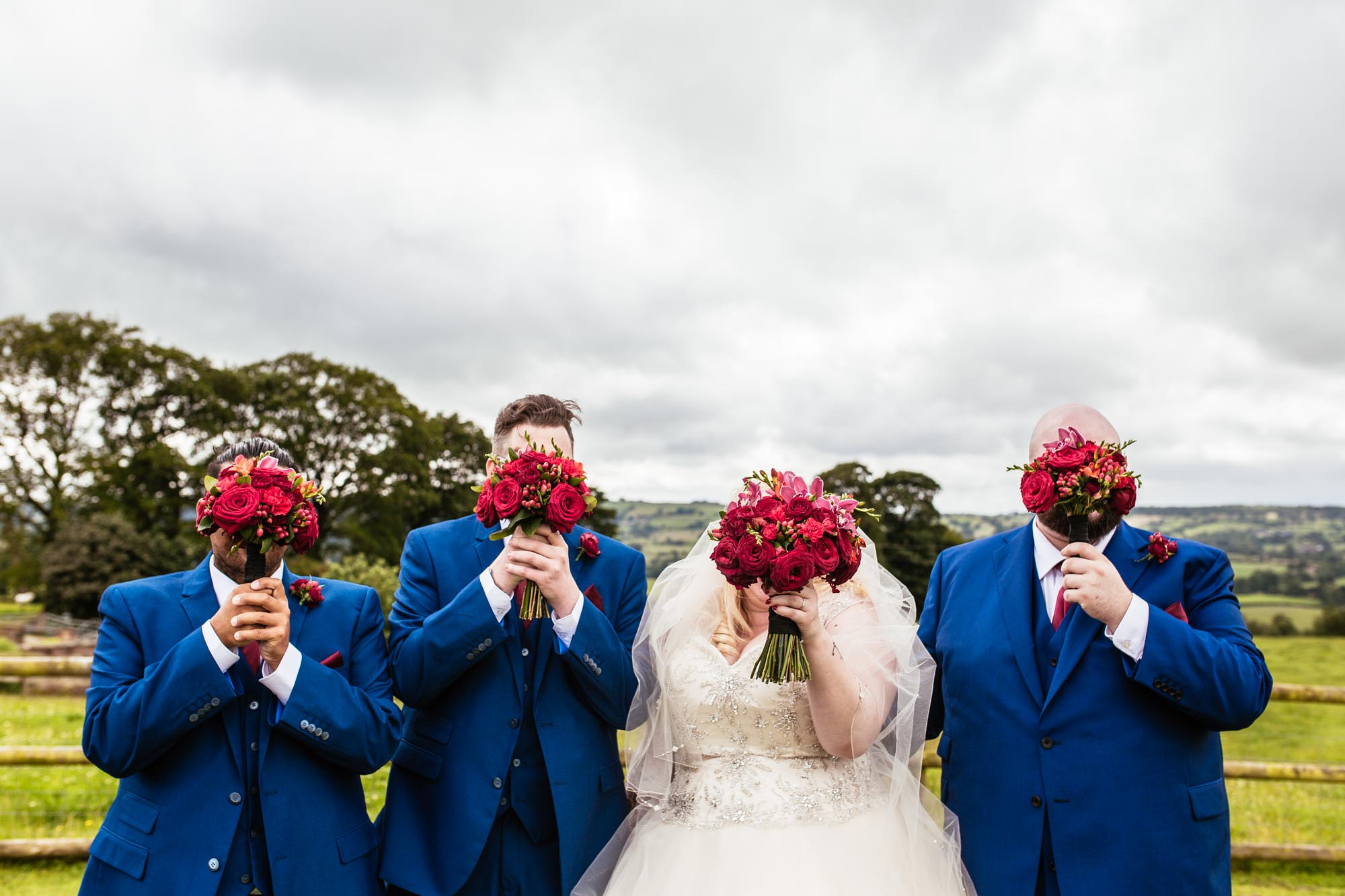 Fun Wedding Photography Heaton House Farm