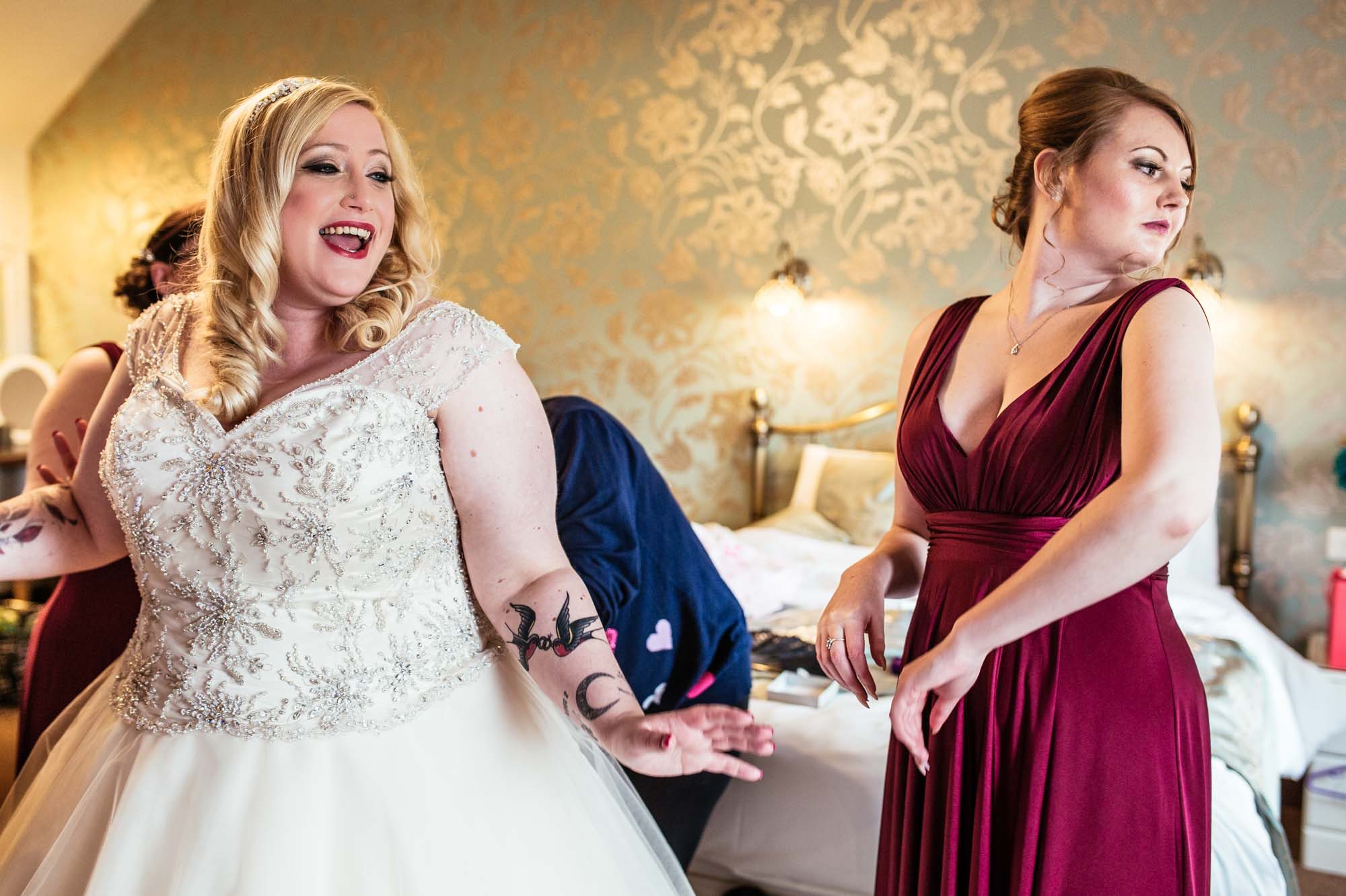 Heaton House Farm Creative Wedding Photography