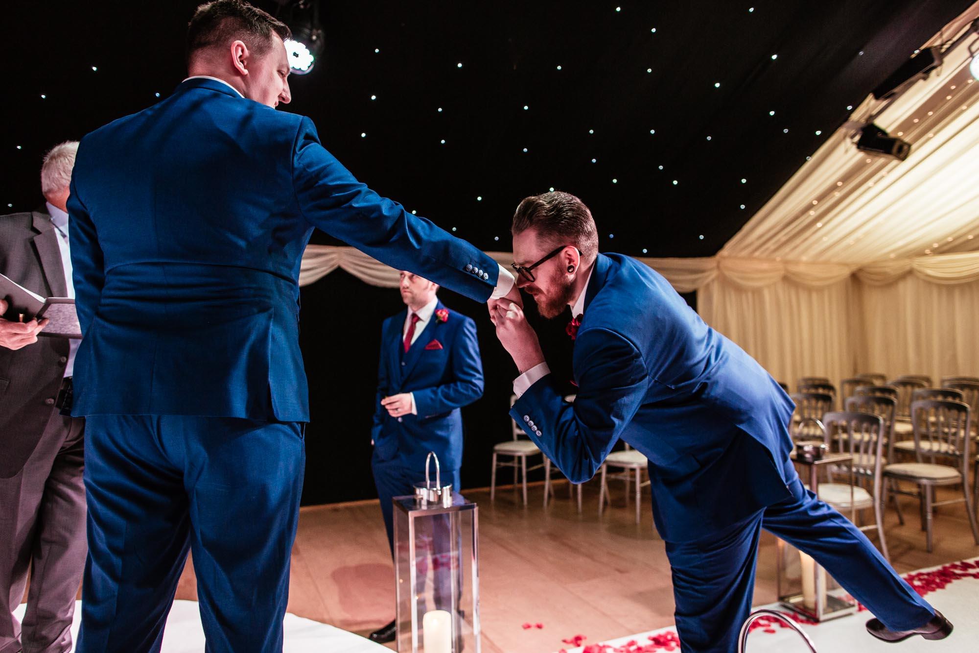 Heaton House Farm Fun Wedding Photography
