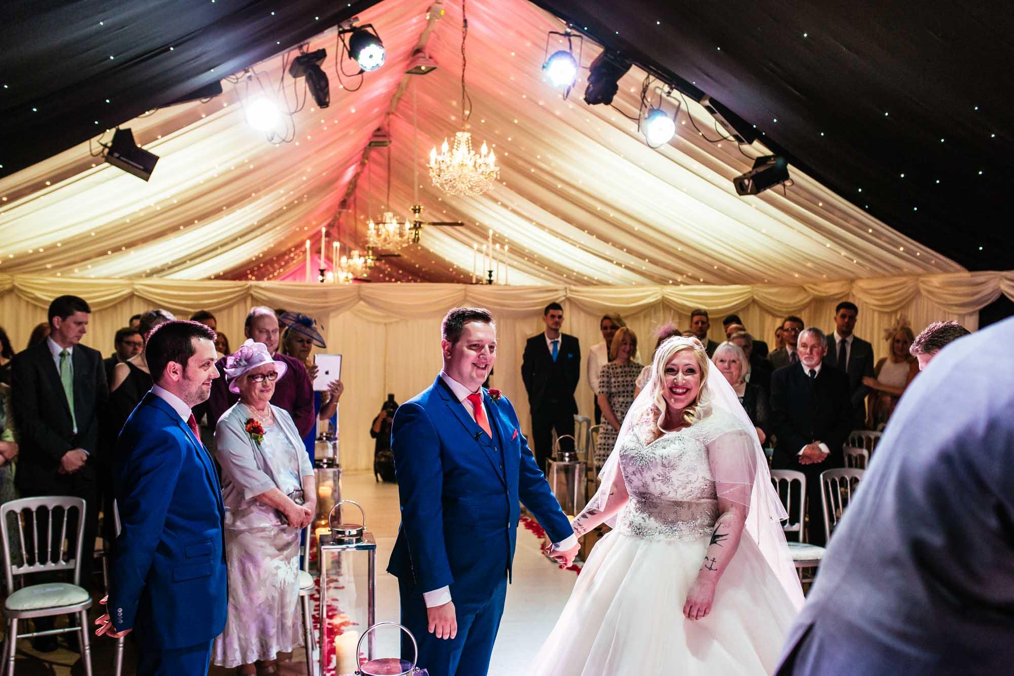 Heaton House Farm Wedding Ceremony