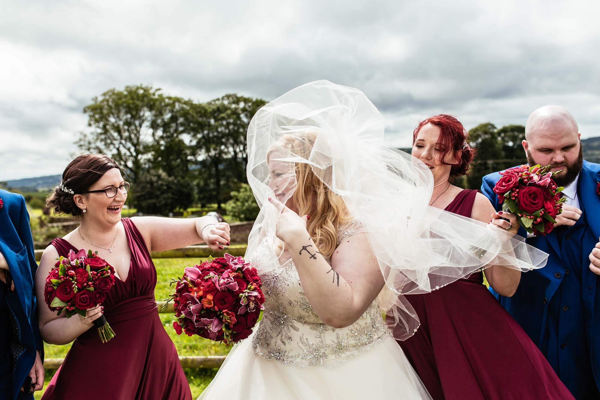 Quirky Wedding Photographer Heaton House Farm