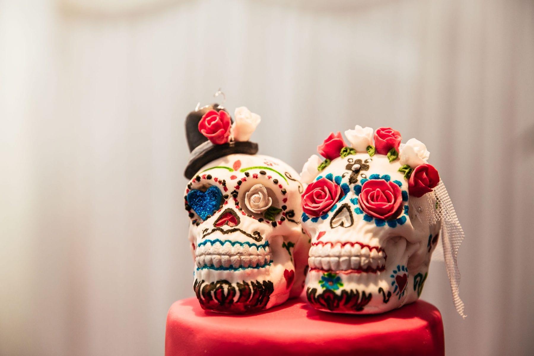 Sugar Skull Wedding Cake Heaton House Farm