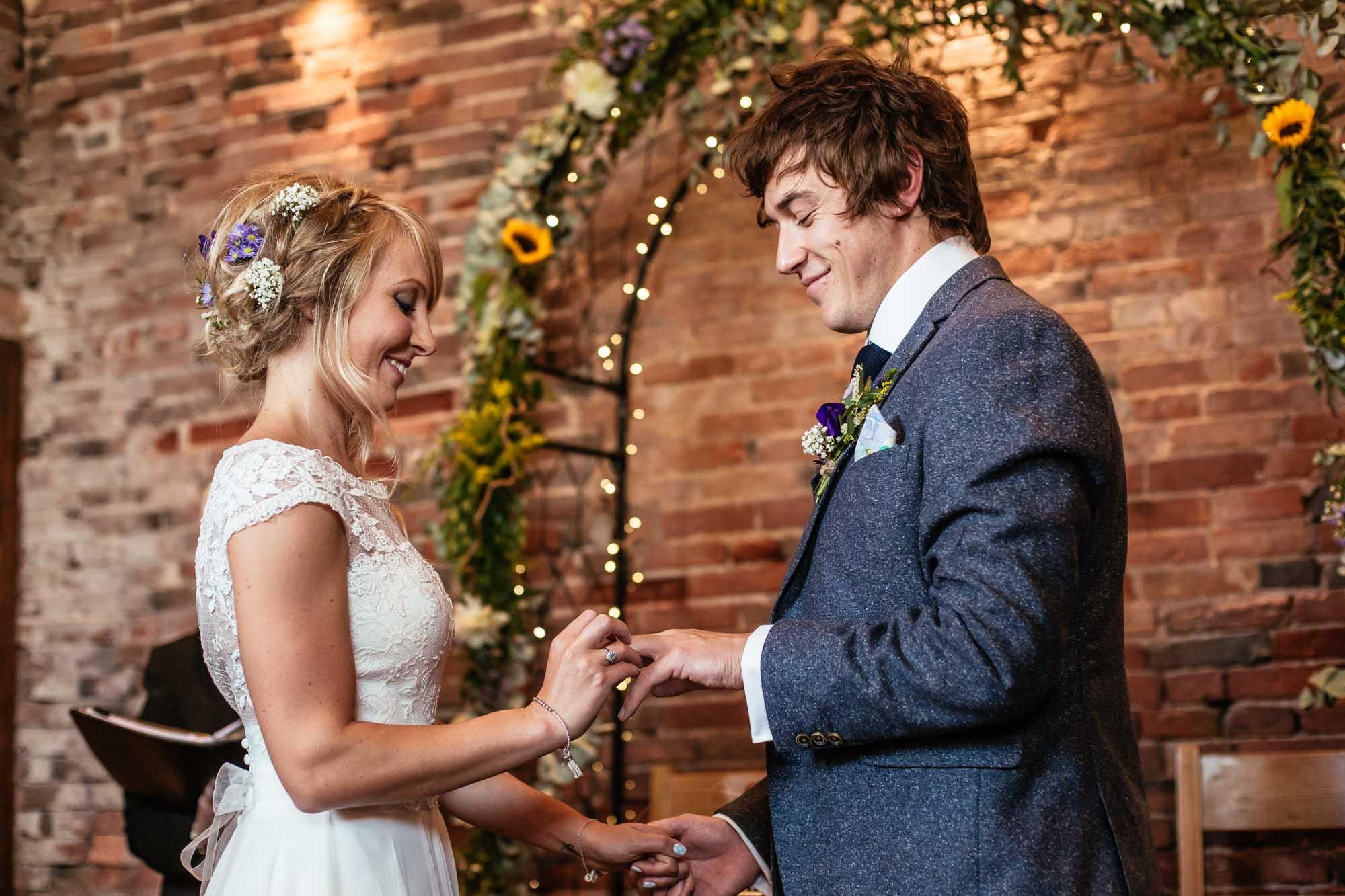 Colourful Barn Wedding Ceremony