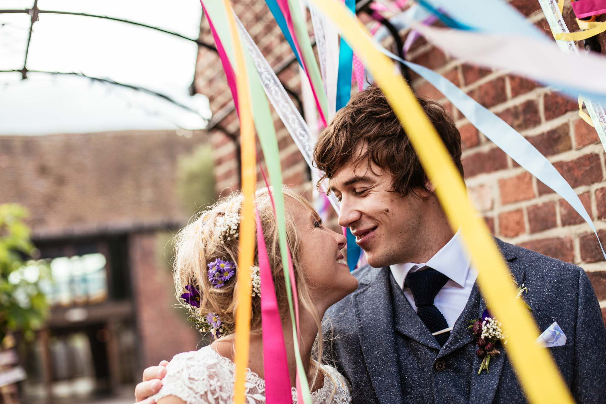 Colourful Vintage Barn Wedding Photographer