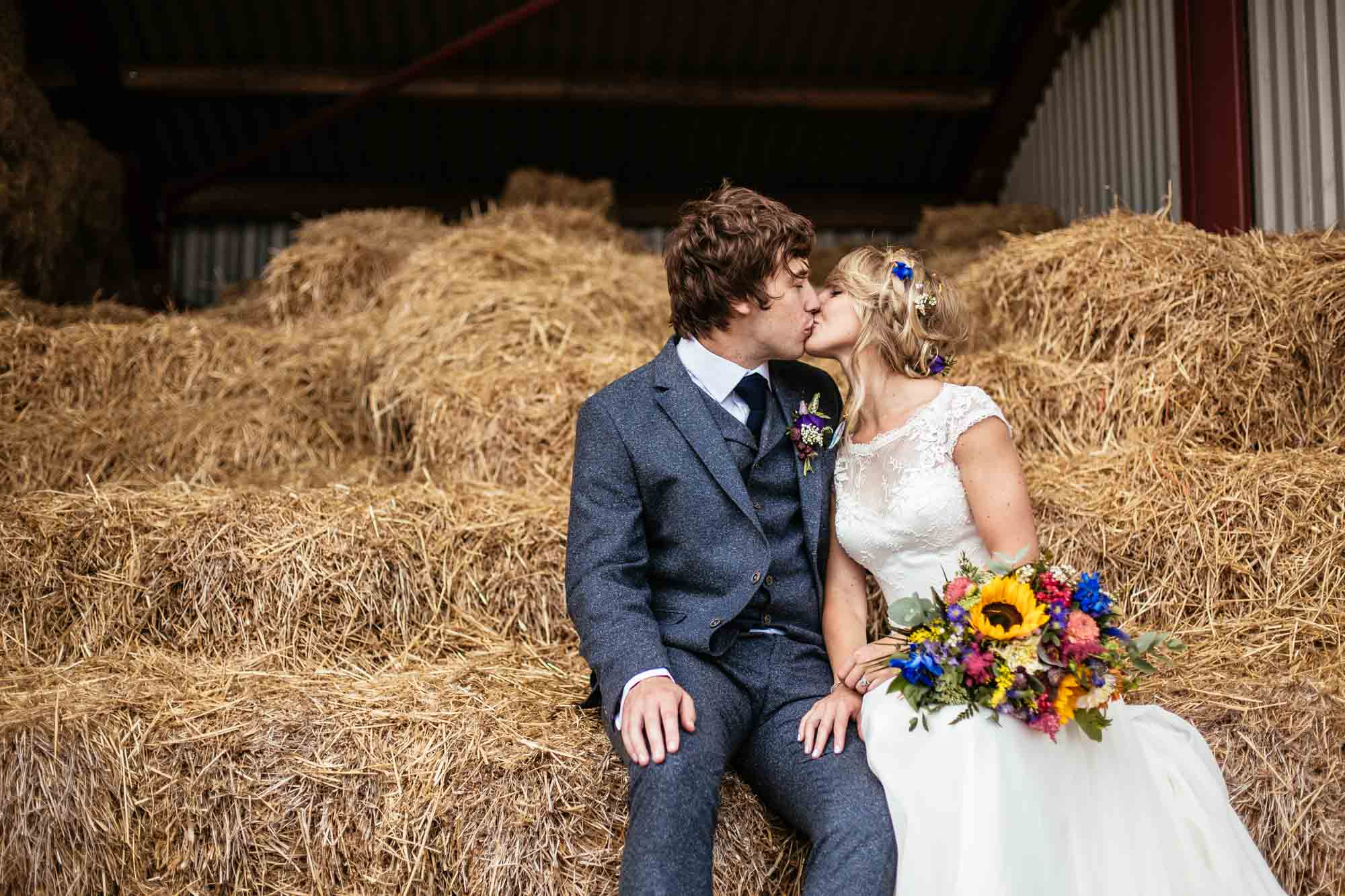 Colourful Vintage Barn Wedding Photography