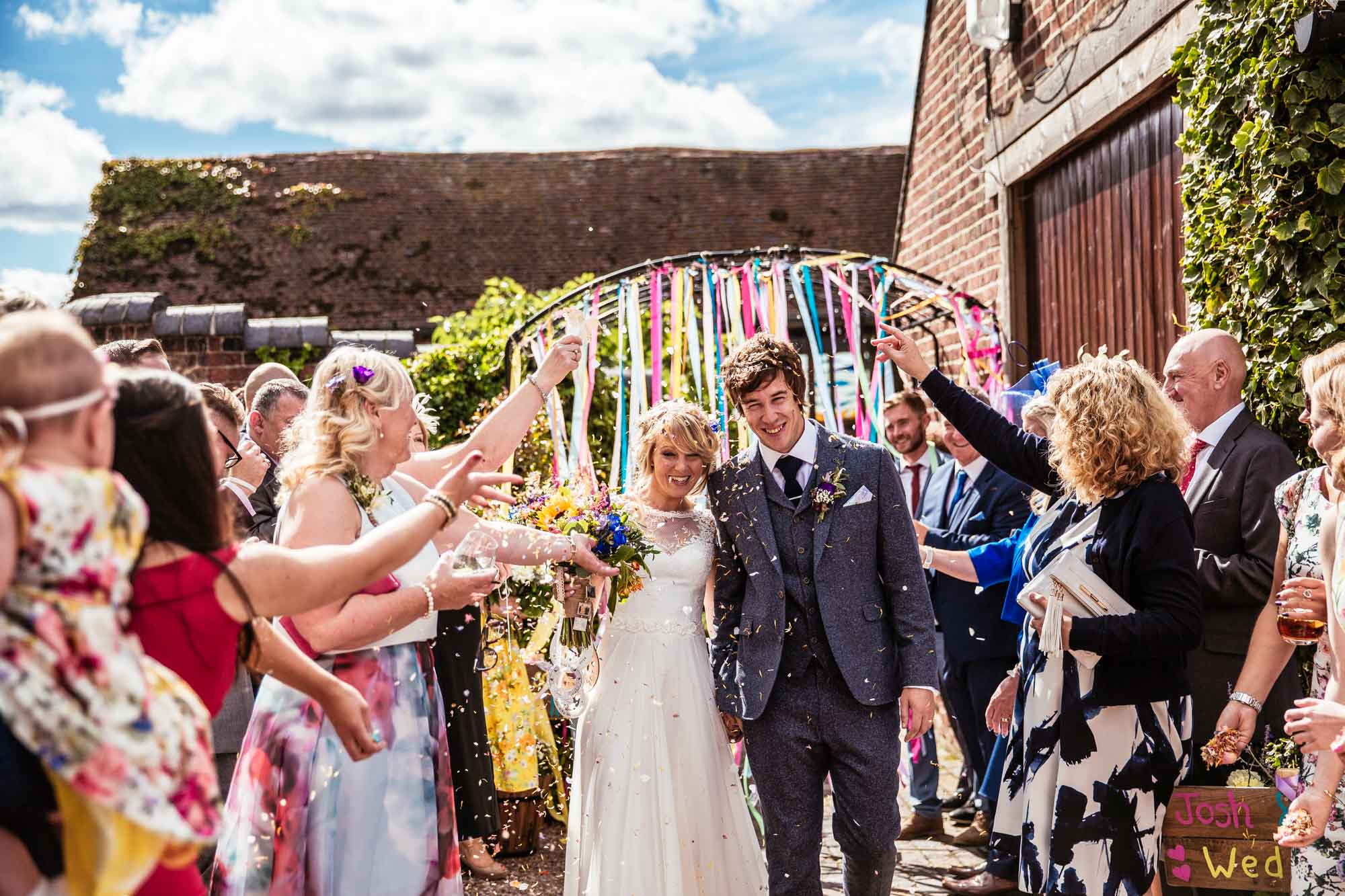 Colourful Vintage Barn Weddings
