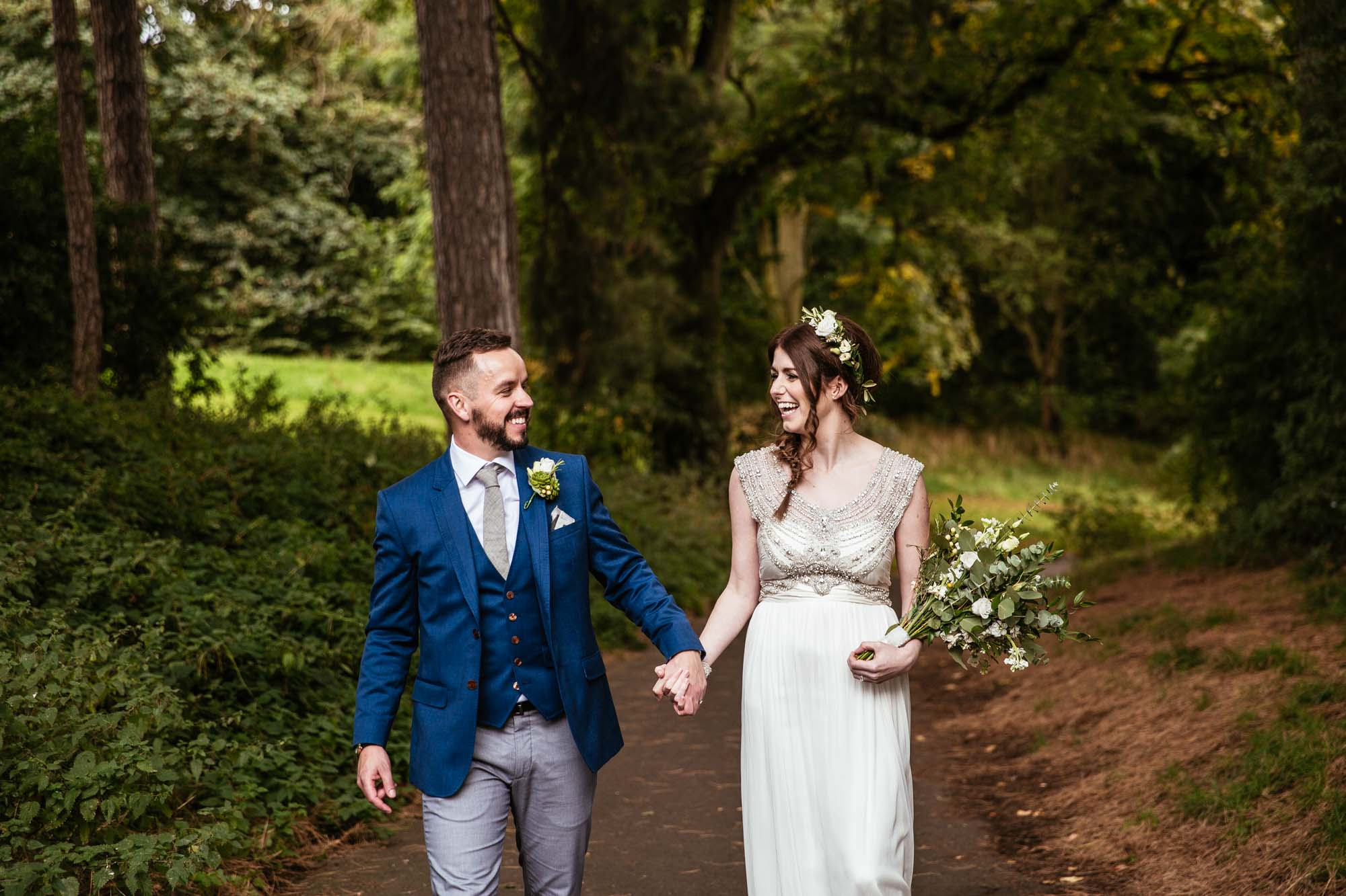 Creative Wedding Photographs Palm House Sefton Park