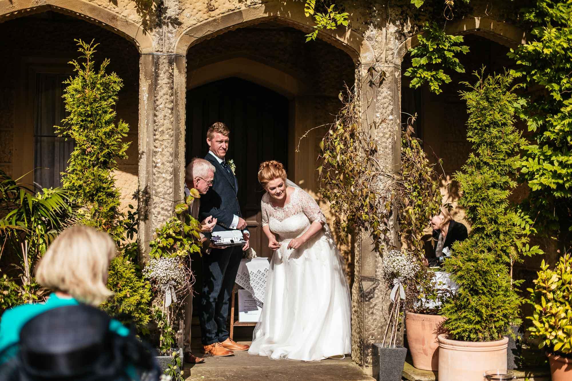 Cressbrook Hall Wedding Cremony Photographs