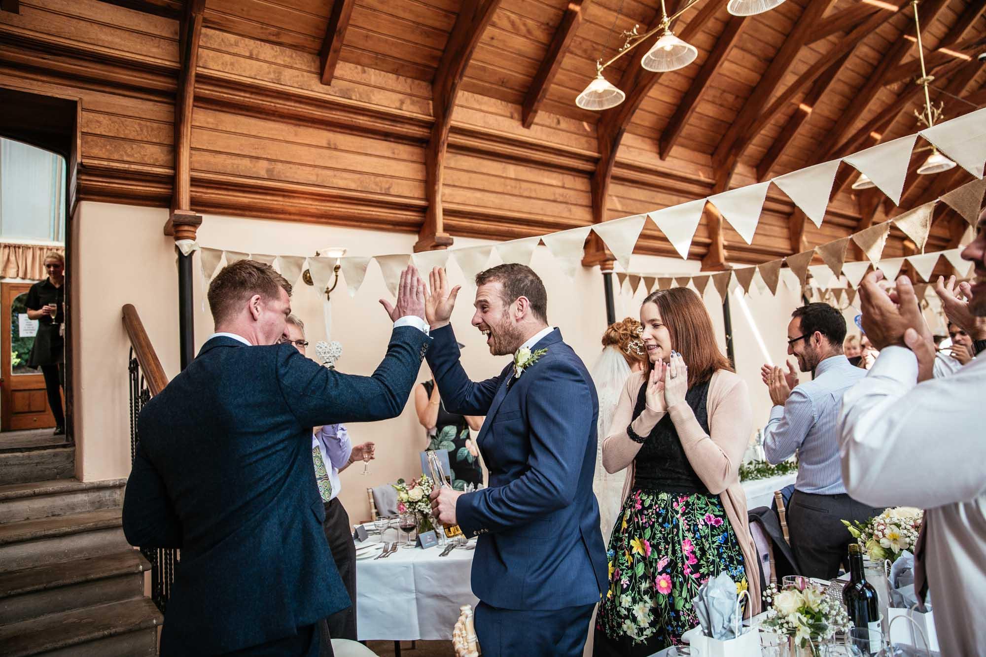 Cressbrook Hall Wedding Reception Photographs