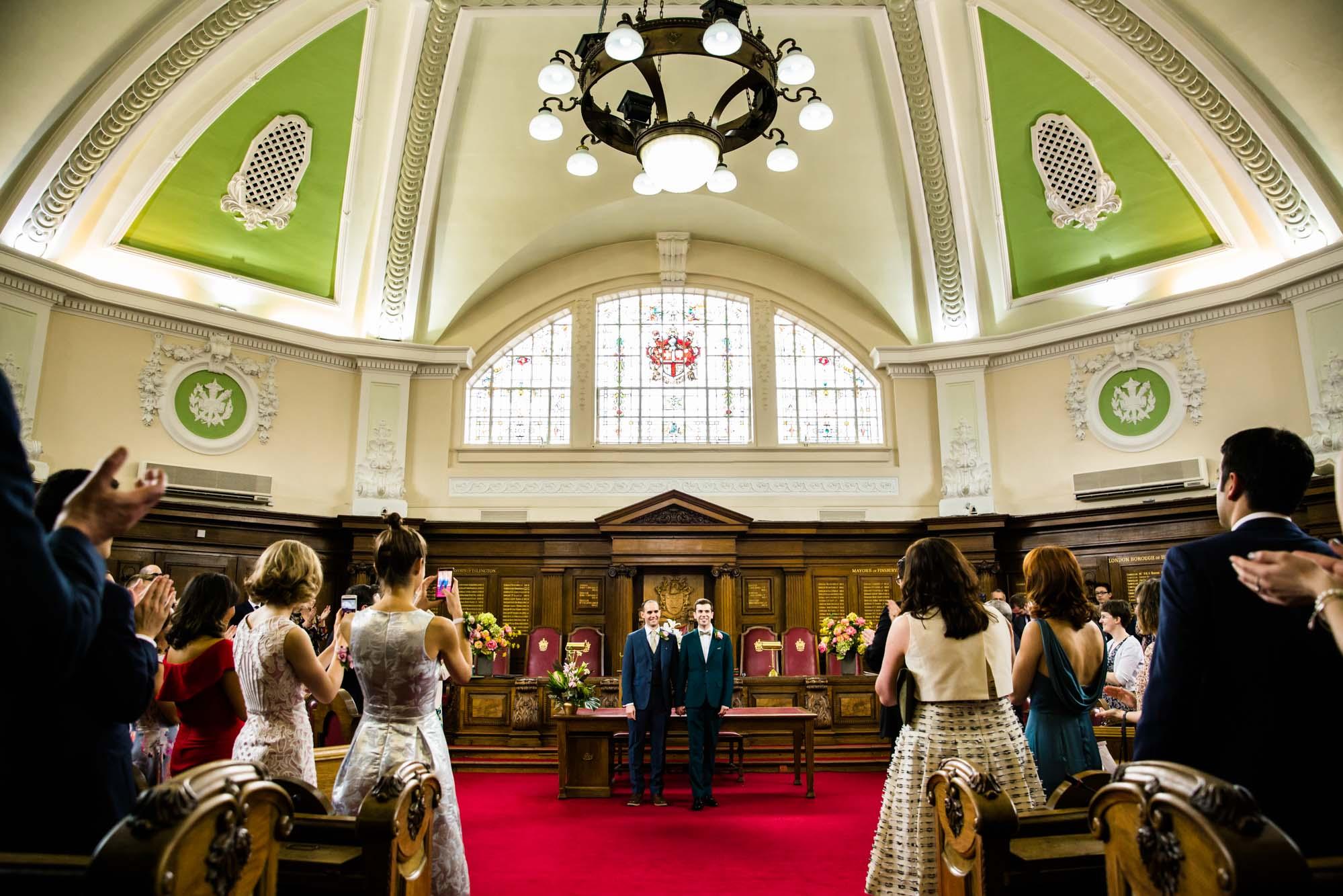 Islington Town Hall Real Wedding Ceremony
