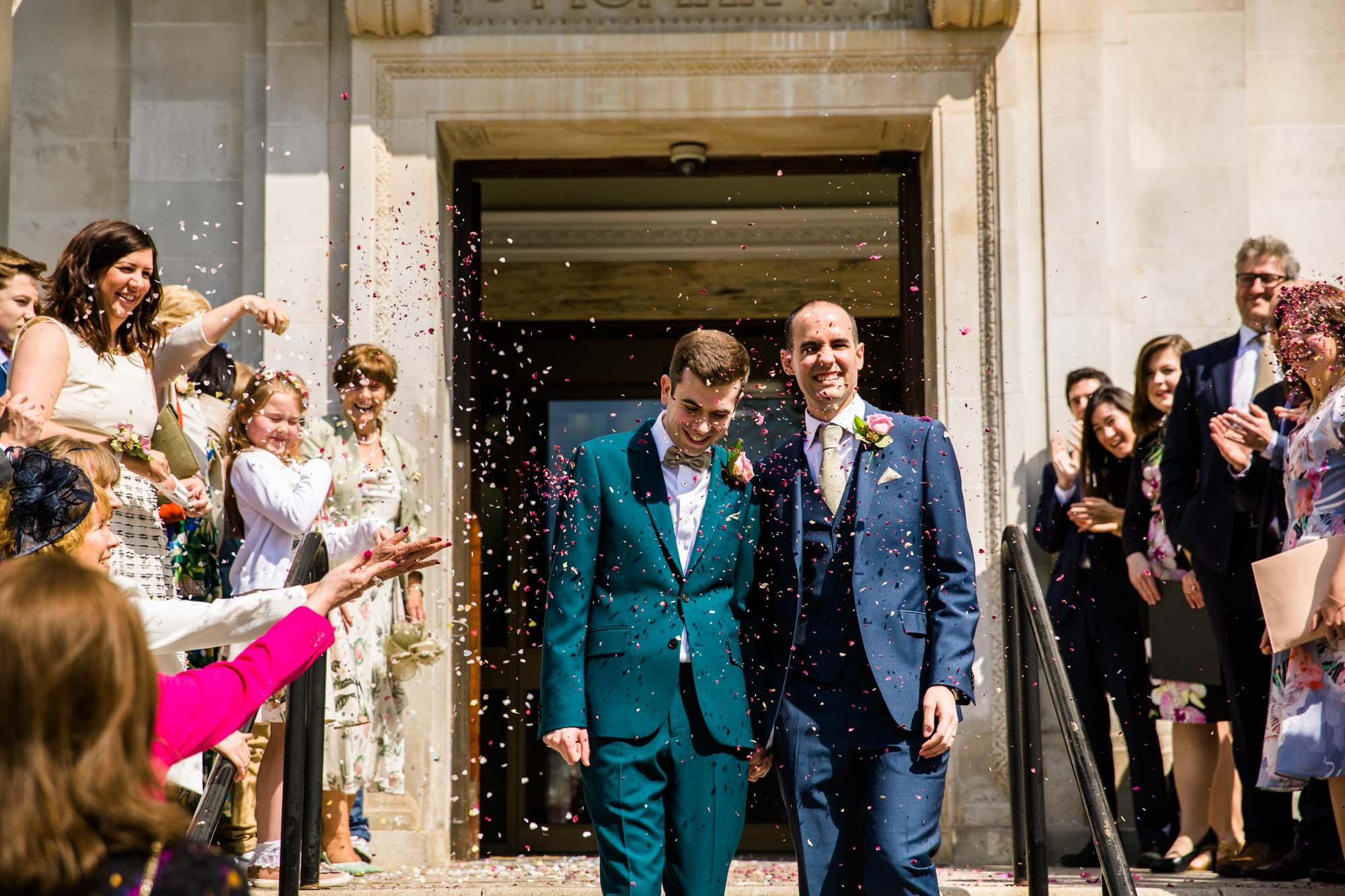 Islington Town Hall Fun Wedding Photographs