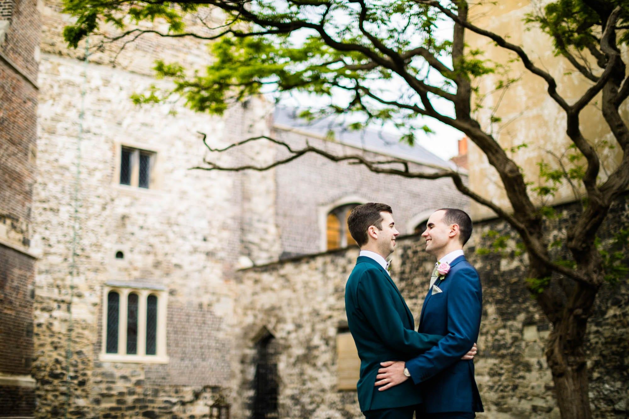 Malmaison London Colourful Wedding Photographs