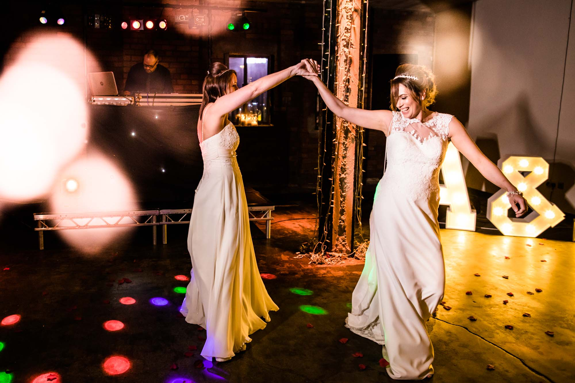 Creative Wedding Photos Victoria Warehouse